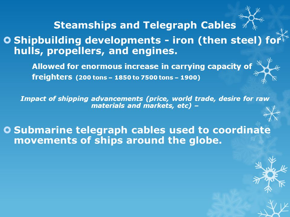 Steamships and Telegraph Cables