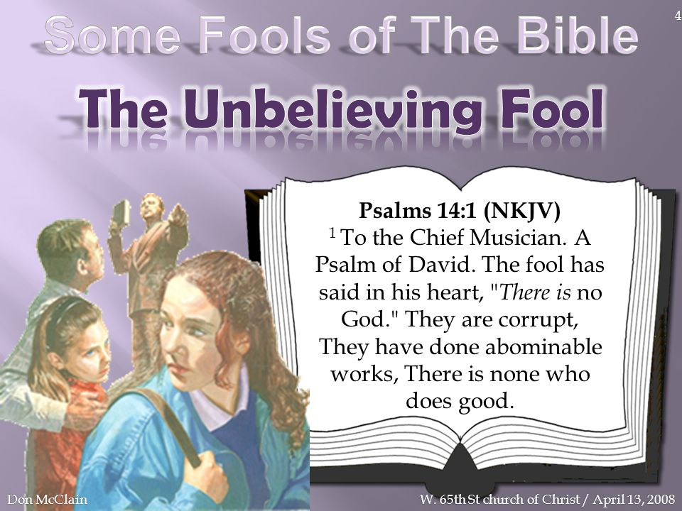 The Unbelieving Fool Some Fools of The Bible