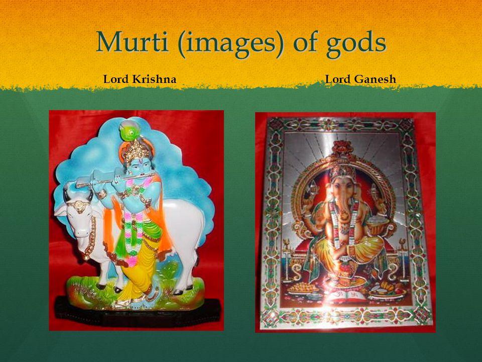 Murti (images) of gods Lord Krishna Lord Ganesh
