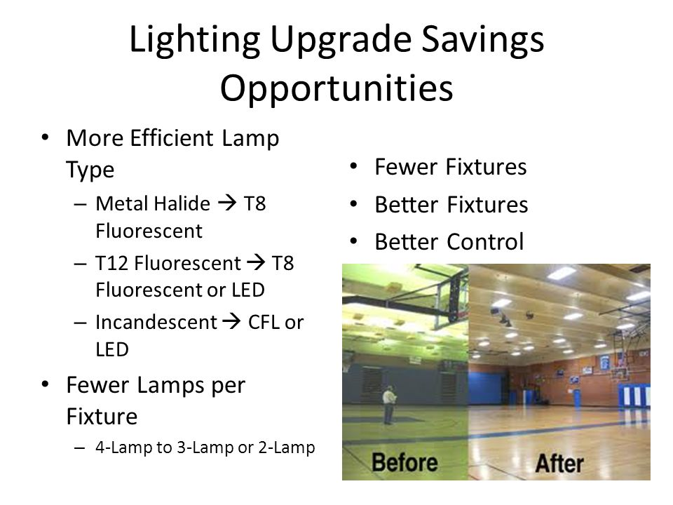 Lighting Upgrade Savings Opportunities