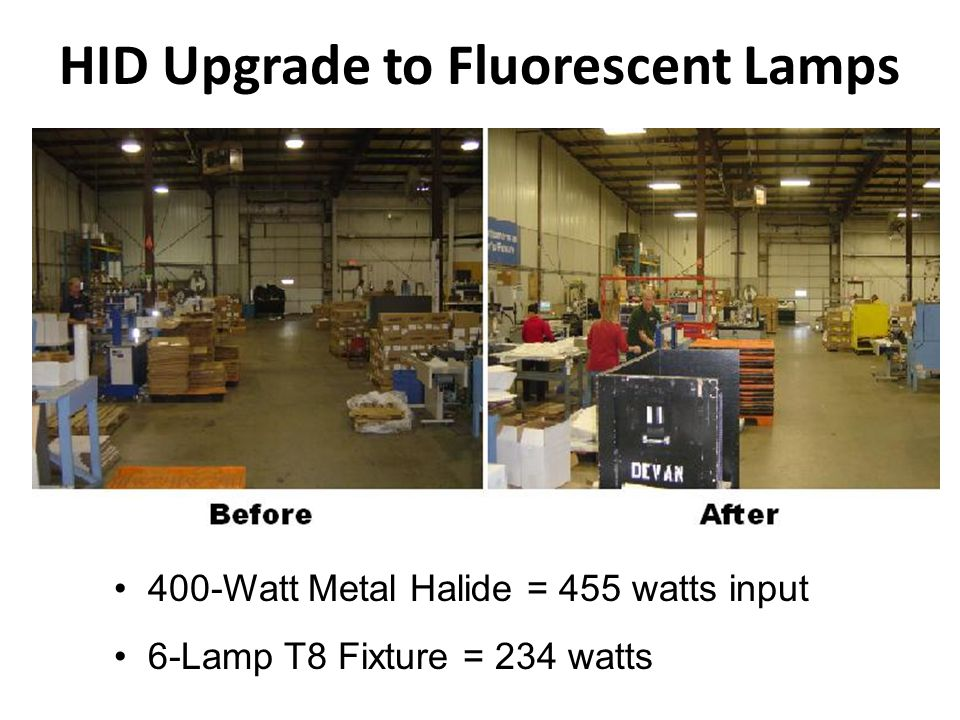 HID Upgrade to Fluorescent Lamps