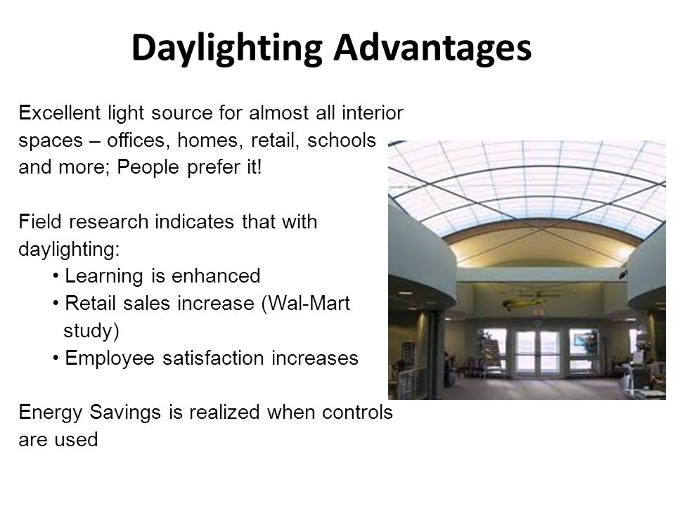 Daylighting Advantages
