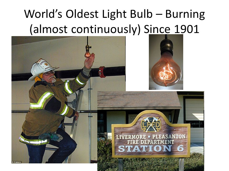 World's Oldest Light Bulb – Burning (almost continuously) Since 1901