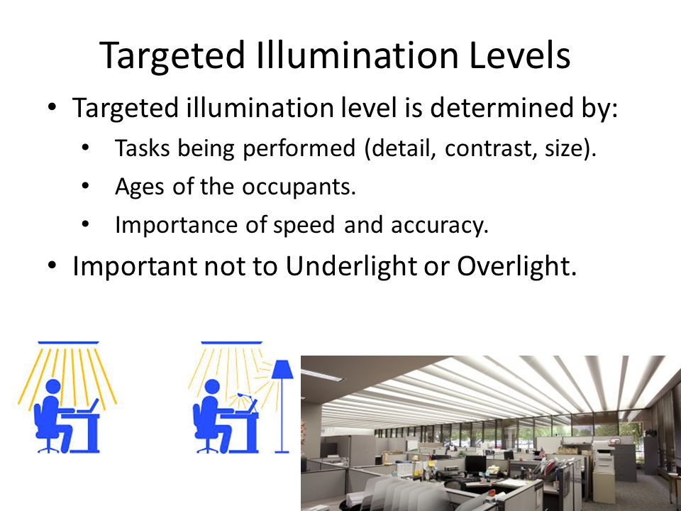 Targeted Illumination Levels