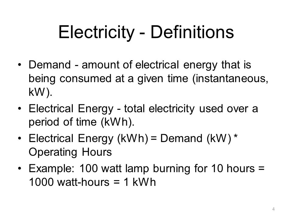 Electricity - Definitions