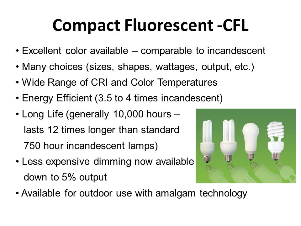 Compact Fluorescent -CFL