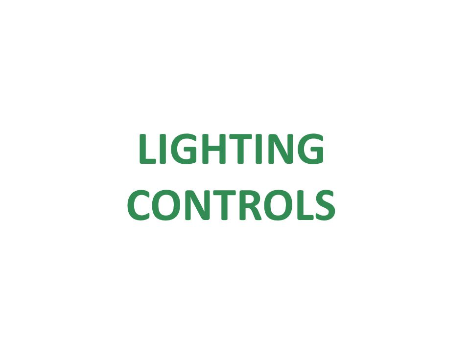 LIGHTING CONTROLS