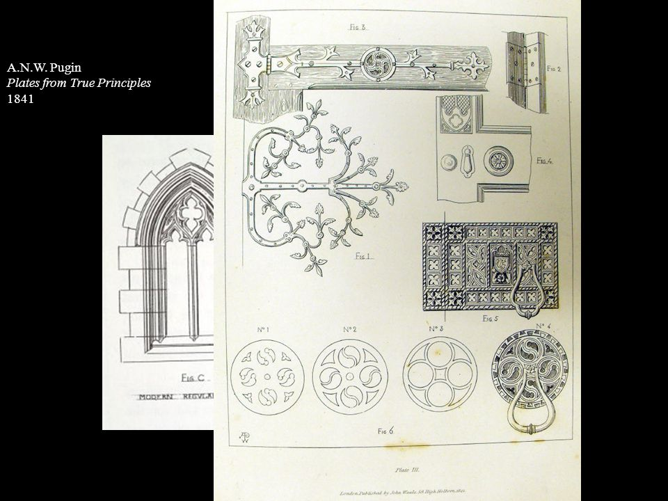 A.N.W. Pugin Plates from True Principles 1841