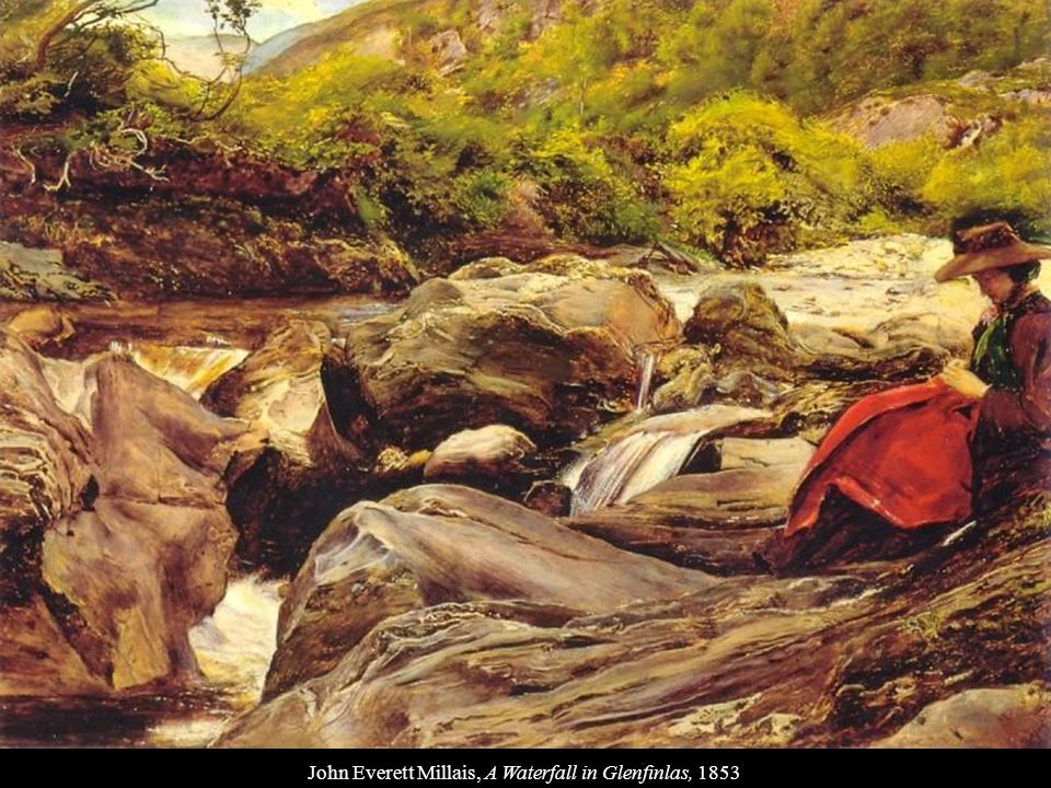 John Everett Millais, A Waterfall in Glenfinlas, 1853