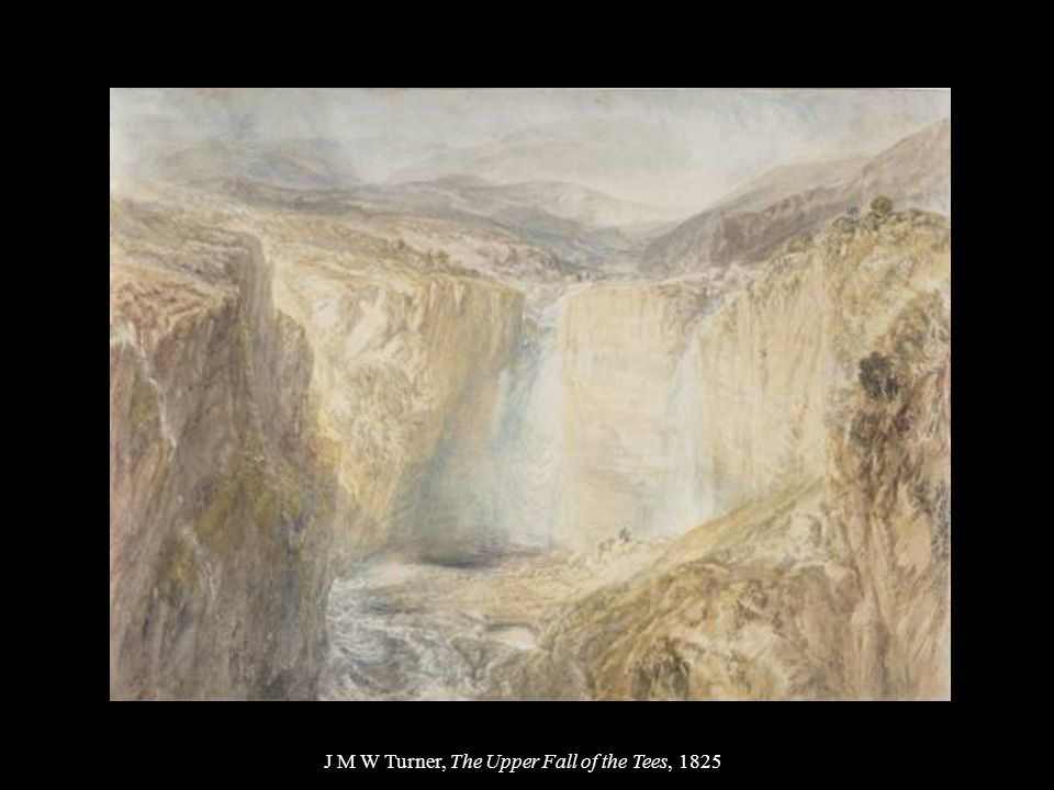 J M W Turner, The Upper Fall of the Tees, 1825