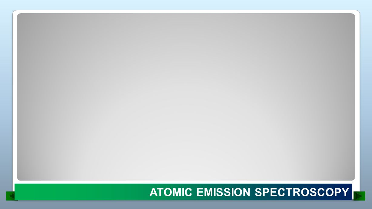 ATOMIC EMISSION SPECTROSCOPY