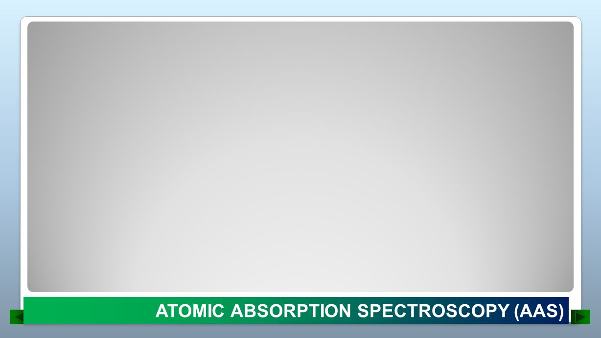 ATOMIC ABSORPTION SPECTROSCOPY (AAS)