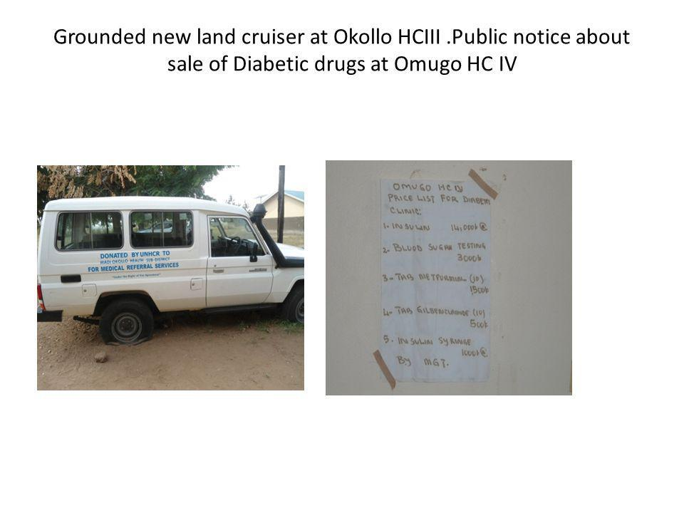 Grounded new land cruiser at Okollo HCIII