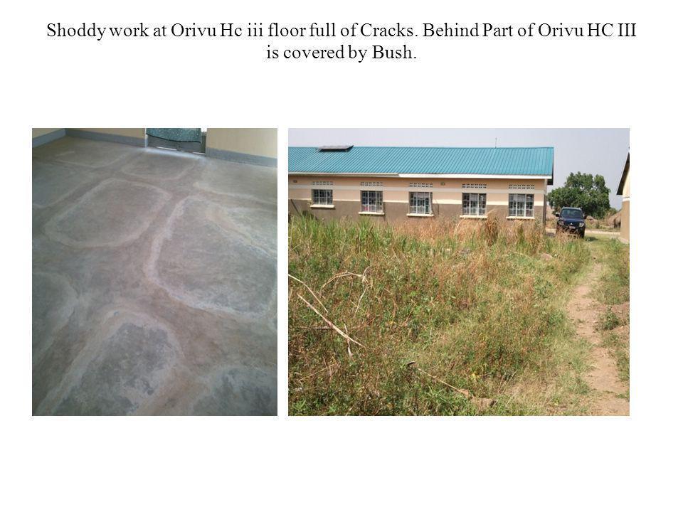 Shoddy work at Orivu Hc iii floor full of Cracks