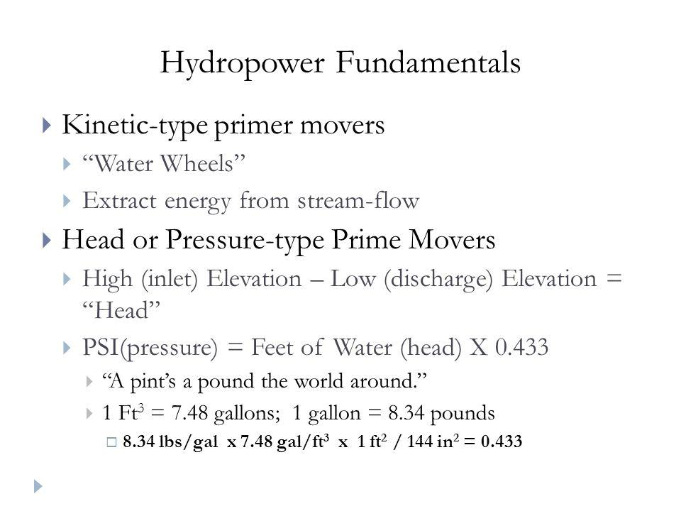 Hydropower Fundamentals