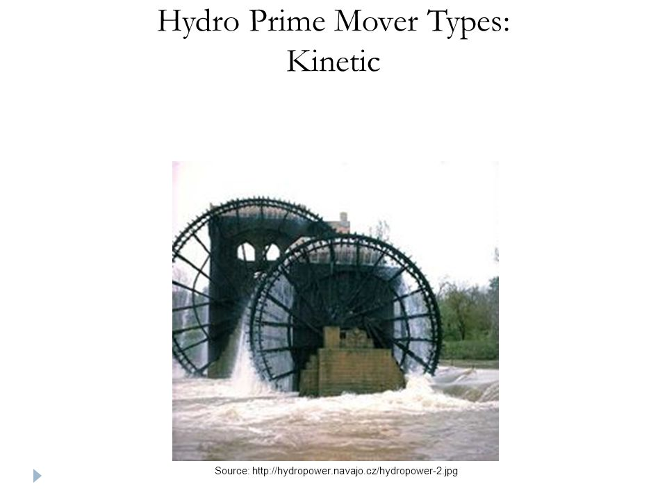 Hydro Prime Mover Types: Kinetic