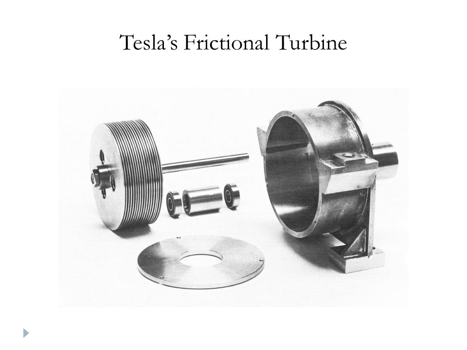 Tesla's Frictional Turbine