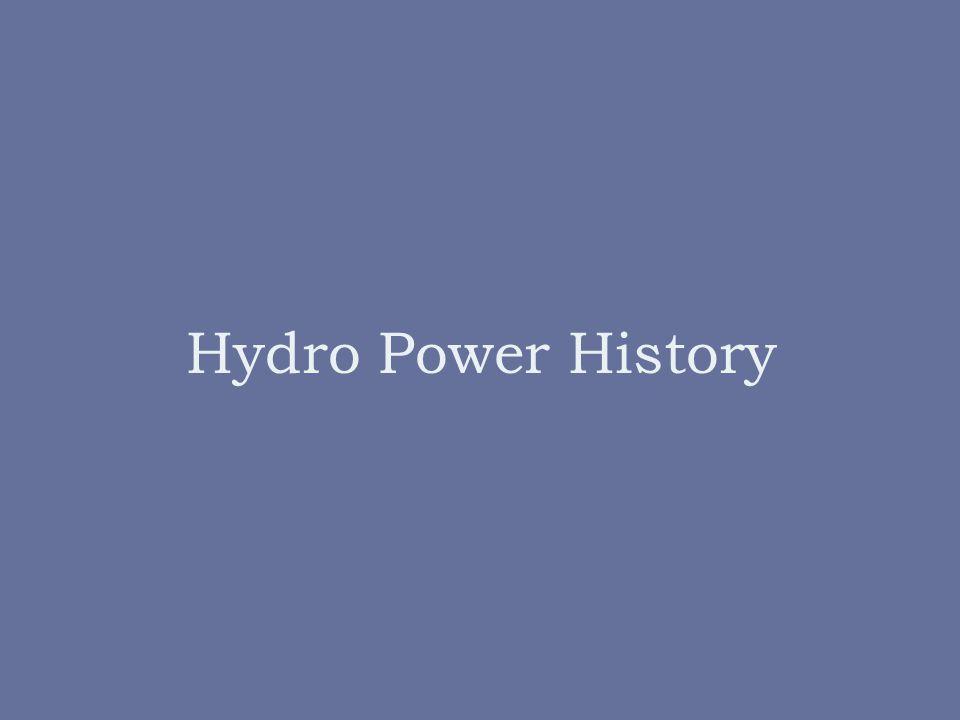 Hydro Power History