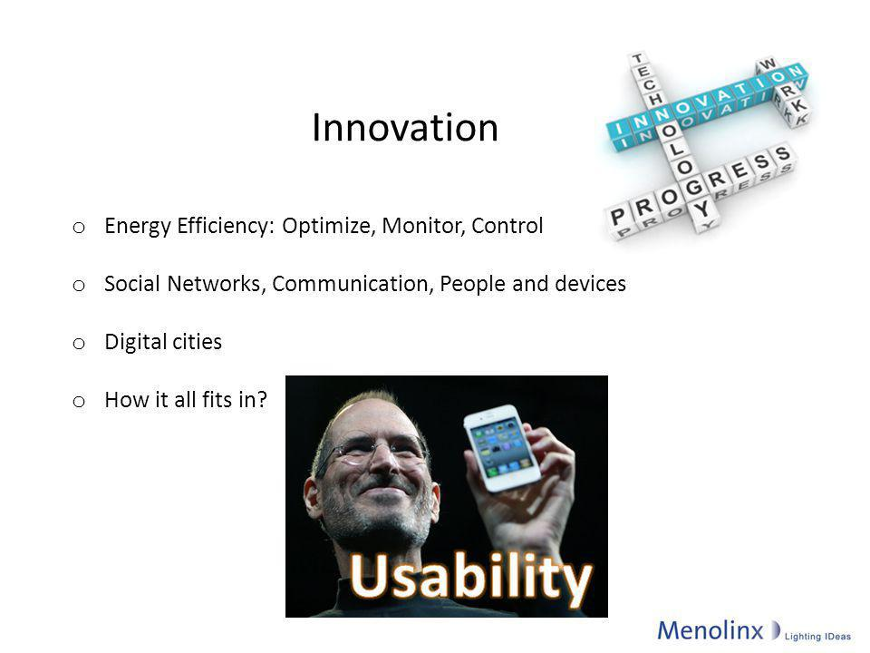 Usability Innovation Energy Efficiency: Optimize, Monitor, Control