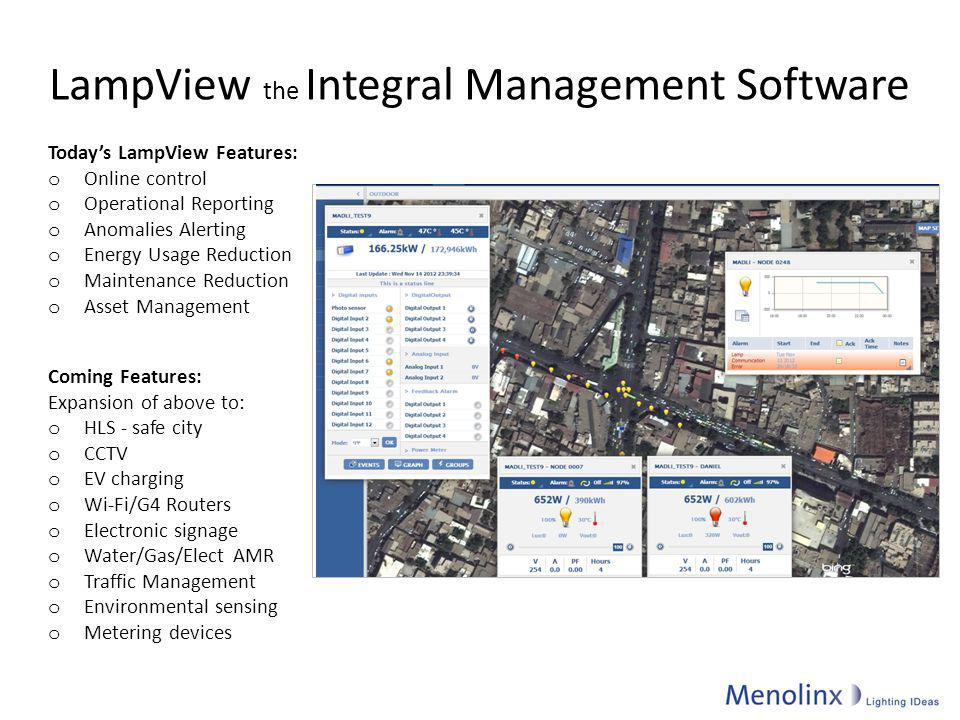 LampView the Integral Management Software