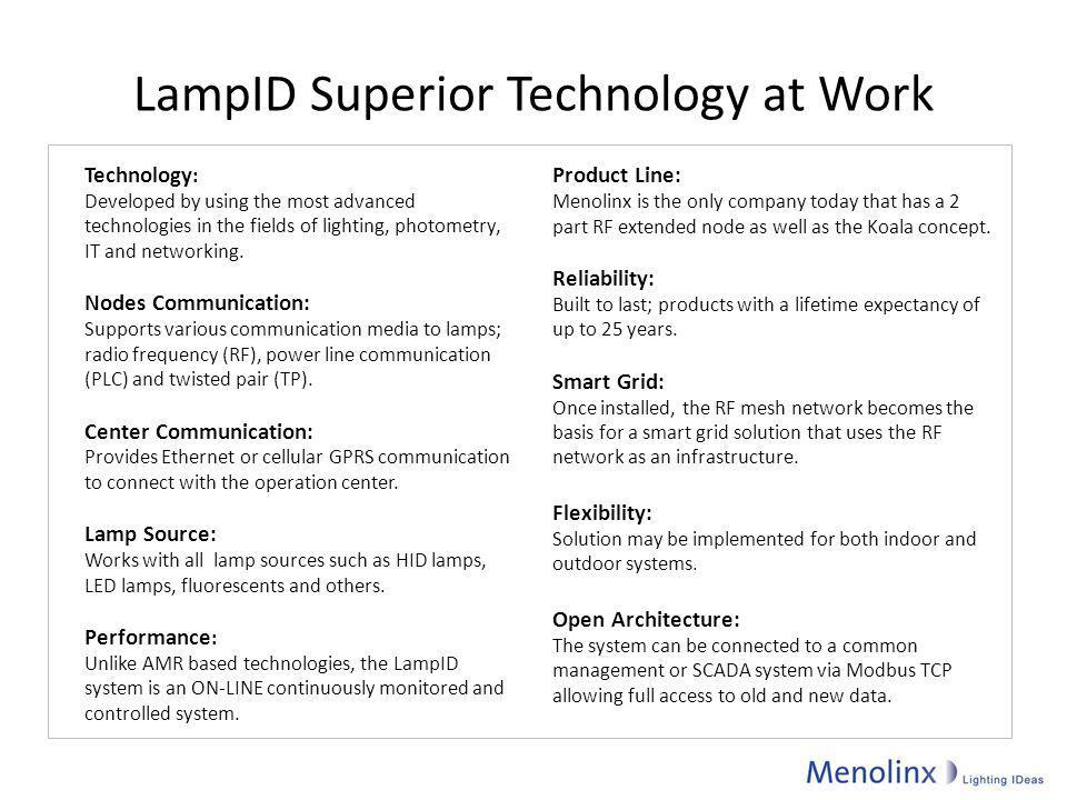 LampID Superior Technology at Work