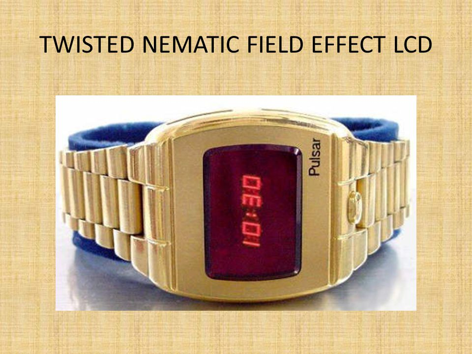Twisted nematic field effect LCD
