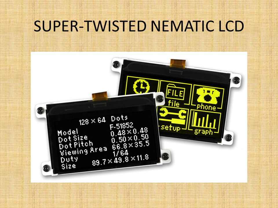 Super-twisted nematic LCD