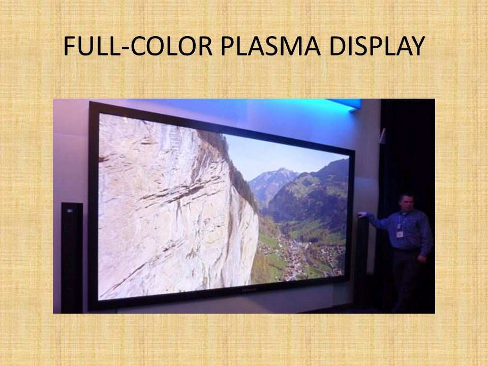 Full-color plasma display