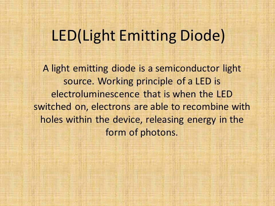 LED(Light Emitting Diode)