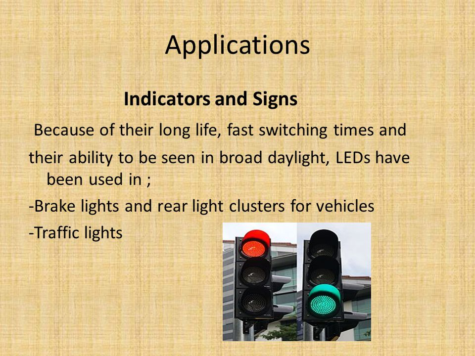 Applications Indicators and Signs