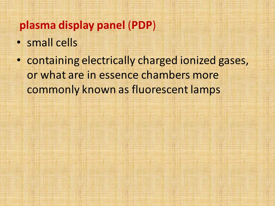 plasma display panel (PDP)