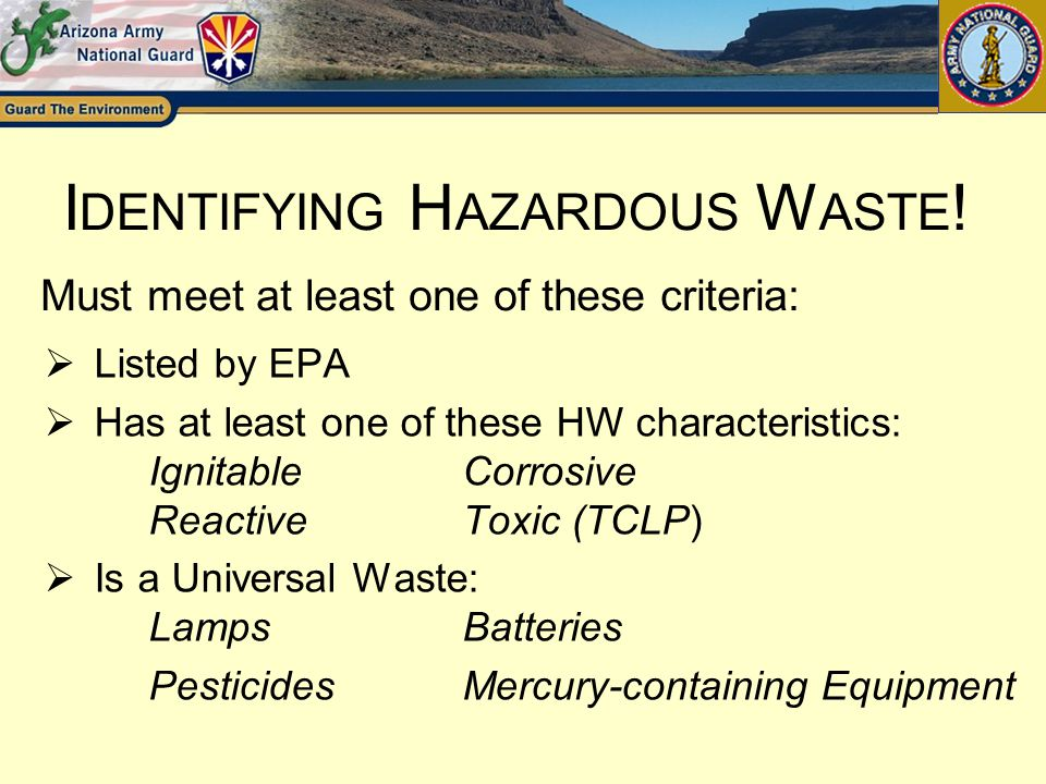 Identifying Hazardous Waste!