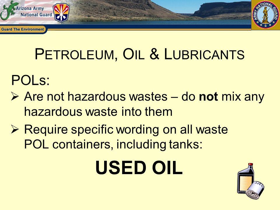 Petroleum, Oil & Lubricants