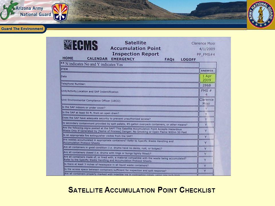 Satellite Accumulation Point Checklist