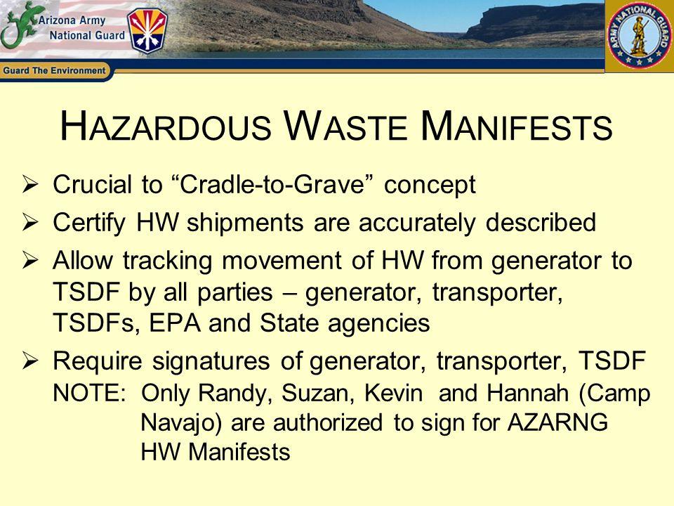 Hazardous Waste Manifests