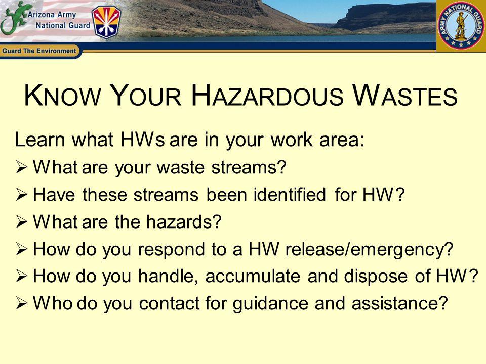 Know Your Hazardous Wastes
