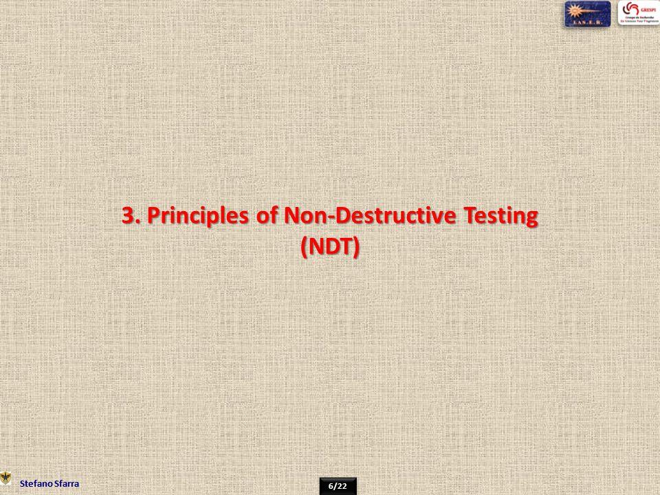 3. Principles of Non-Destructive Testing (NDT)