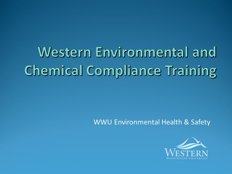 Western Environmental and Chemical Compliance Training