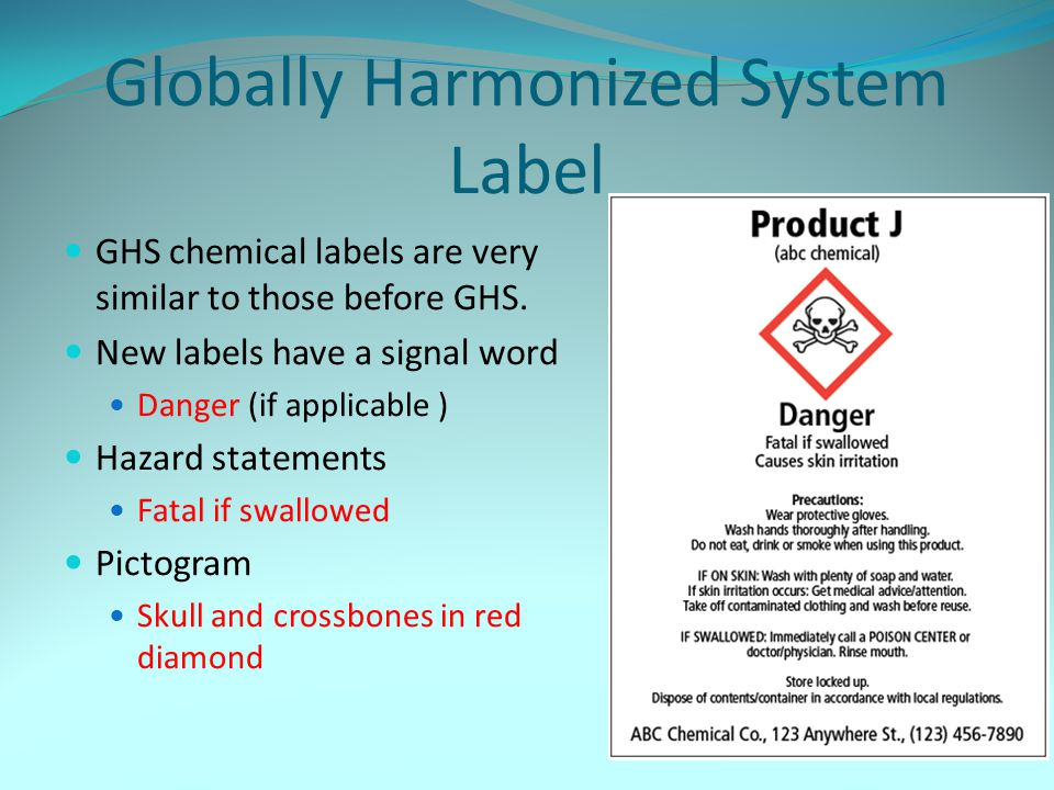 Globally Harmonized System Label