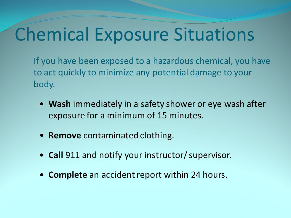 Chemical Exposure Situations