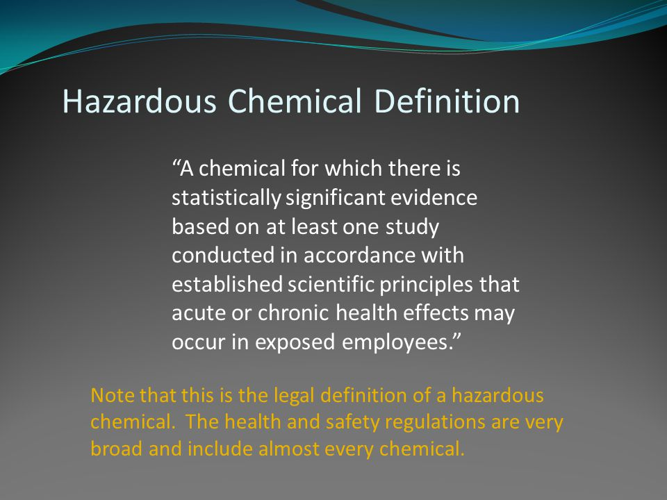 Hazardous Chemical Definition