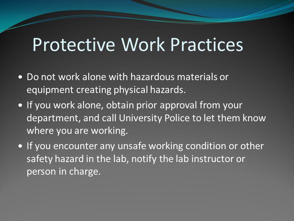 Protective Work Practices