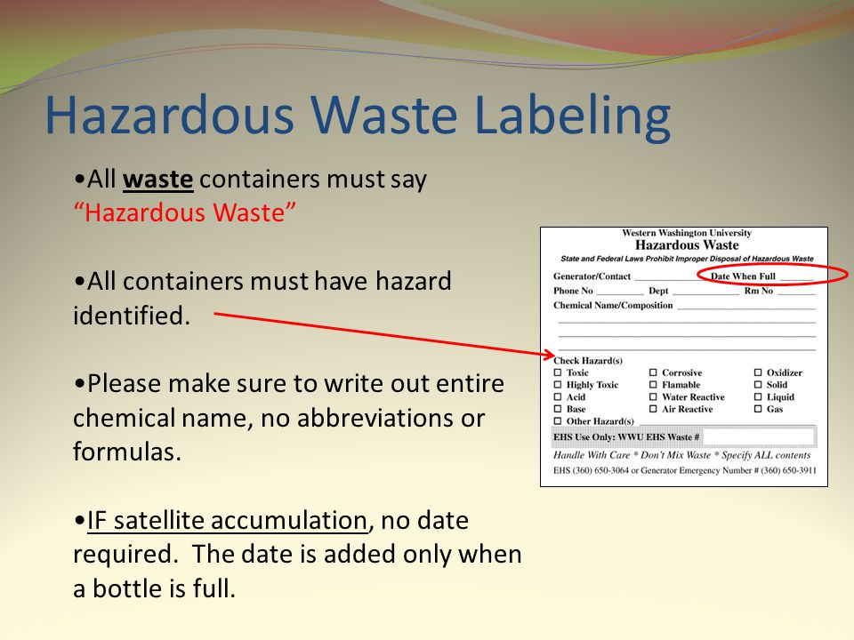 Hazardous Waste Labeling