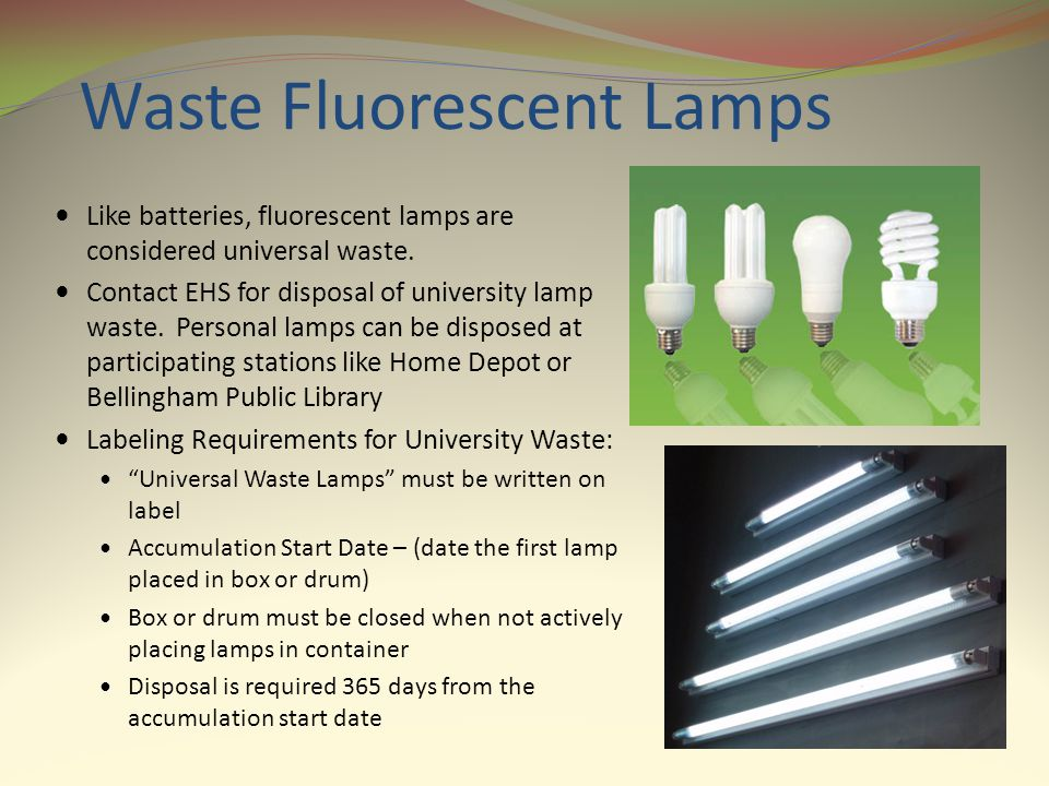 Waste Fluorescent Lamps