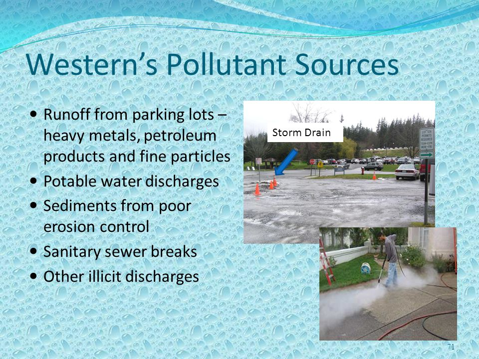 Western's Pollutant Sources