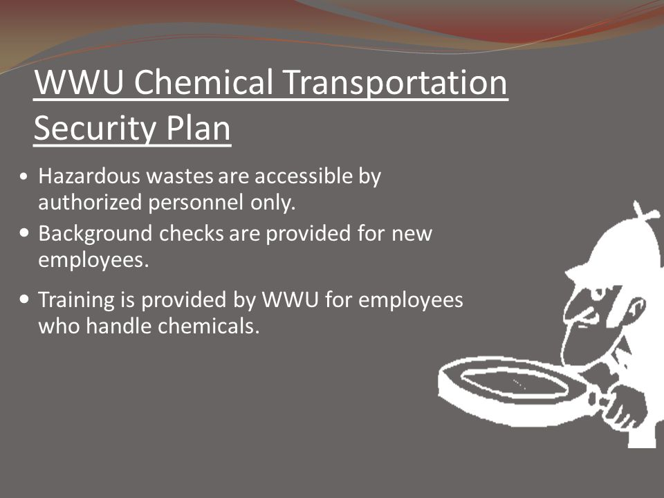 WWU Chemical Transportation Security Plan