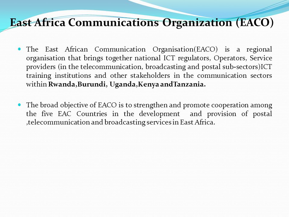 East Africa Communications Organization (EACO)