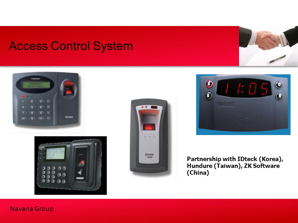 Access Control System Partnership with IDteck (Korea), Hundure (Taiwan), ZK Software (China)