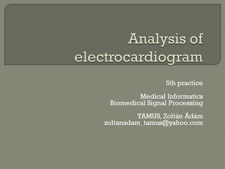 Analysis of electrocardiogram