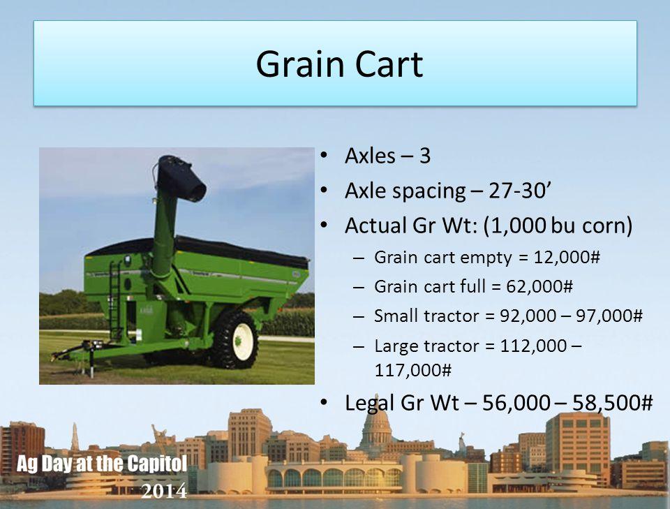 Grain Cart Axles – 3 Axle spacing – 27-30'